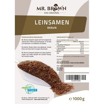 Mr.Brown Leinsamen 1 kg